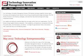 Technology Innovation Management Review
