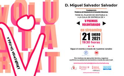 V Edición Premios Voluntariado 2020