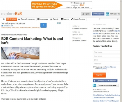 B2B Content Marketing: What is and isn't - exploreB2B