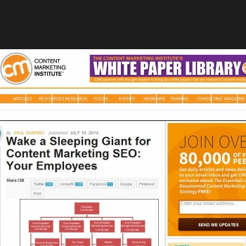 Wake a Sleeping Giant for Content Marketing SEO: Your Employees